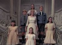 Von Trapp Children, Maria and Captain Von Trapp singing Edelweiss
